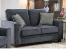 Catherine Loveseat w/ 2 Pillows in Blue Fabric - Acme Furniture 52291