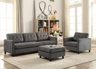 Ceasar Sectional Sofa (Rev. Ottoman) in Gray Fabric - Acme Furniture 53315