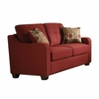 Cleavon II Loveseat w/ 2 Pillows in Red Linen - Acme Furniture 53561
