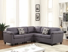 Cleavon Sectional Sofa w/ 2 Pillows (Reversible) in Gray Linen - Acme Furniture 51550