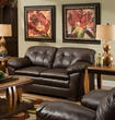 Clover Loveseat Cowgirl Brown - Chelsea Home Furniture 421200-02L-CBR