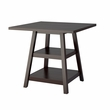 "CorLiving DIP-490-T Bistro 36"" Counter Height Cappuccino Dining Table w/ Shelves"
