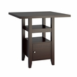 "CorLiving DPP-690-T Bistro 36"" Counter Height Cappuccino Dining Table w/ Cabinet"