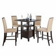"CorLiving DPP-690-Z1 Bistro 5pc 36"" Counter Height Cappuccino Dining Set - Desert Sand"