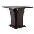 "CorLiving DWP-390-T Bistro 36"" Counter Height Cappuccino Dining Table w/ Curved Base"