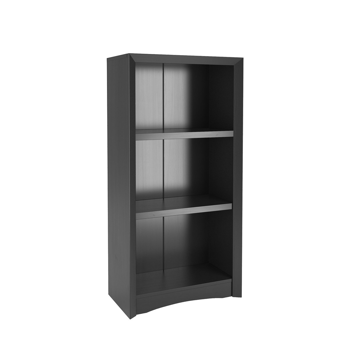 Corliving Lsa 807 S Quadra 47 Tall Bookcase In Black Faux Woodgrain Finish