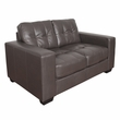 CorLiving LZY-121-L Club Tufted Brownish-Grey Bonded Leather Loveseat