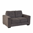 CorLiving LZY-131-L Club Tufted Grey Chenille Fabric Loveseat