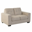 CorLiving LZY-161-L Club Tufted Beige Chenille Fabric Loveseat