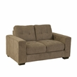 CorLiving LZY-191-L Club Tufted Brown Chenille Fabric Loveseat