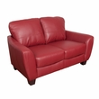 CorLiving LZY-251-L Jazz Red Bonded Leather Loveseat