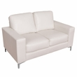 CorLiving LZY-411-L Cory Contemporary White Bonded Leather Loveseat