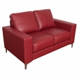 CorLiving LZY-451-L Cory Contemporary Red Bonded Leather Loveseat