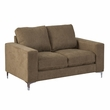 CorLiving LZY-491-L Cory Brown Chenille Fabric Loveseat