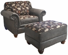 Cornelius Chair & Ottoman Group Palance Granite - Chelsea Home Furniture 2653024-19-GR-PG