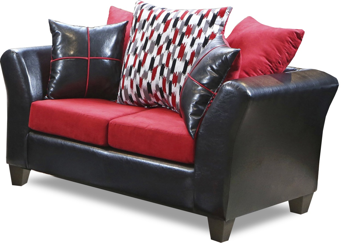 Genial Cynthia Loveseat Denver Black   Victory Cardinal   Chelsea Home Furniture  294170 L DBVCBB