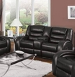Dacey Loveseat w/ Console (Motion) in Black Bonded Leather Match - Acme Furniture 50743