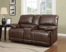 Daishiro Loveseat w/ Console (Motion) in Chestnut Bonded Leather Match - Acme Furniture 50748