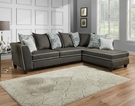Daryl Sectional Vivid Onyx - Chelsea Home Furniture 424164-03SEC-VO