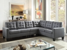 Earsom Sectional Sofa in Gray Linen - Acme Furniture 52760