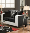 Emboss Loveseat Implosion Black & Olympia BW - Chelsea Home Furniture 424120-02L