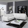 Empress 3 Piece Leather Sectional Sofa Set EEI-1549-WHI (Shipping Included)