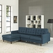 Empress Left-Arm Sectional Sofa EEI-1666-AZU (Shipping Included)