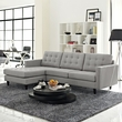 Empress Left-Arm Sectional Sofa EEI-1666-LGR (Shipping Included)