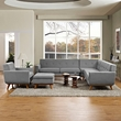Engage 5 Piece Sectional Sofa in Expectation Gray - East End Imports EEI-2186-DOR-SET (Shipping Included)