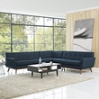 Engage L-Shaped Sectional Sofa in Azure - East End Imports EEI-2108-AZU-SET (Shipping Included)