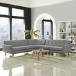 Engage L-Shaped Sectional Sofa in Expectation Gray - East End Imports EEI-2108-GRY-SET (Shipping Included)