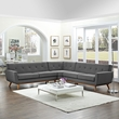 Engage L-Shaped Sectional Sofa in Gray - East End Imports EEI-2108-DOR-SET (Shipping Included)