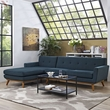 Engage Left-Facing Sectional Sofa in Azure - East End Imports EEI-2068-AZU-SET (Shipping Included)