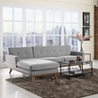 Engage Left-Facing Sectional Sofa in Expectation Gray - East End Imports EEI-2068-GRY-SET (Shipping Included)
