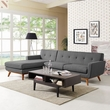 Engage Left-Facing Sectional Sofa in Gray - East End Imports EEI-2068-DOR-SET (Shipping Included)