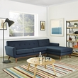 Engage Right-Facing Sectional Sofa in Azure - East End Imports EEI-2119-AZU-SET (Shipping Included)