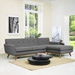 Engage Right-Facing Sectional Sofa in Gray - East End Imports EEI-2119-DOR-SET (Shipping Included)