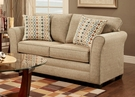 Essex Loveseat - Mover Straw - Chelsea Home Furniture 473250-L-MS