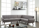 Essick Sectional Sofa in Light Gray Linen - Acme Furniture 52765