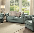 Eulalia Loveseat w/ 4 Pillows in Polished Velvet - Acme Furniture 54146