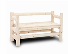 Fairhaven Log Boot Bench Unfinished - Chelsea Home Furniture 85513022-UNF