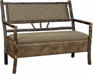 Finnegan Hoosier Storage Bench w/ Arms Natural Finish - Chelsea Home Furniture 420-1311