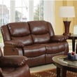 Fullerton Loveseat (Motion) in Brown Bonded Leather Match - Acme Furniture 50011