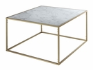 Gold Coast Faux Marble Coffee Table - Convenience Concepts 413482M