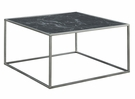 Gold Coast Faux Marble Coffee Table in Black Faux Marble / Silver - Convenience Concepts 413482MBLS