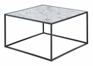 Gold Coast Faux Marble Coffee Table in Faux Marble / Black - Convenience Concepts 413482BL