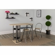 Grammercy 3 Piece Natural Finish Bistro Set w/ Wine Rack & Folding Chairs - Flash Furniture XM-JM-A0169-N-GG