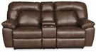 Grant Reclining Loveseat w/ Console Brown - Chelsea Home Furniture 732410-WCL-0410-37826-B