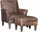 Hakizimana Chair & Ottoman Tenby Putty - Chelsea Home Furniture 398631L40-50-GR-TP