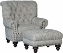 Hall Chair & Ottoman Holloway Stone - Chelsea Home Furniture 399310F40-50-GR-HS